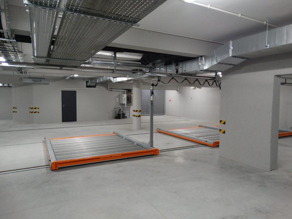 Garaż podziemny Opolskie Centrum Wysokich Technologii